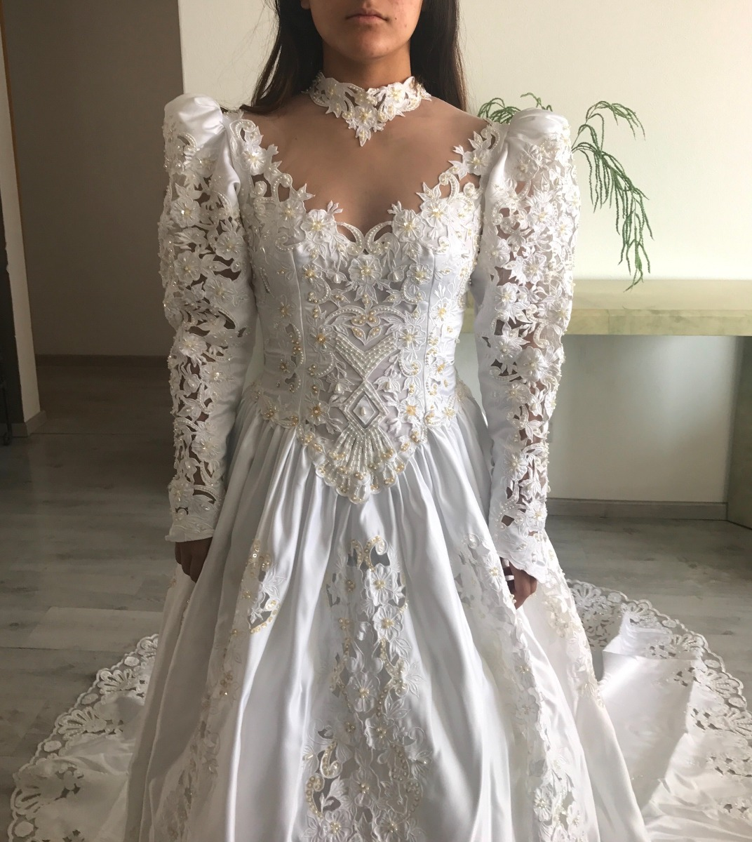 Asombroso Vestido De Novia De Encaje Usada Bosquejo - Ideas de ...