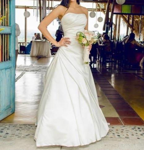 vestido de novia usado marca pronovias color crema - $ 1.500.000 en