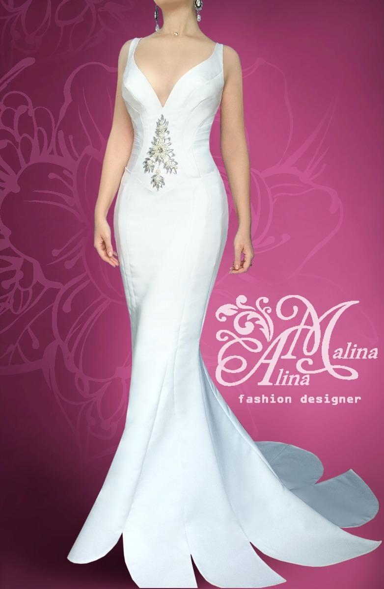 Vestido De Novia Vestido De Boda De Diseñadora Alina Malina - S/ 700 ...