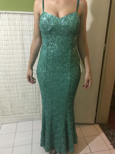 vestido de paillette / color verde