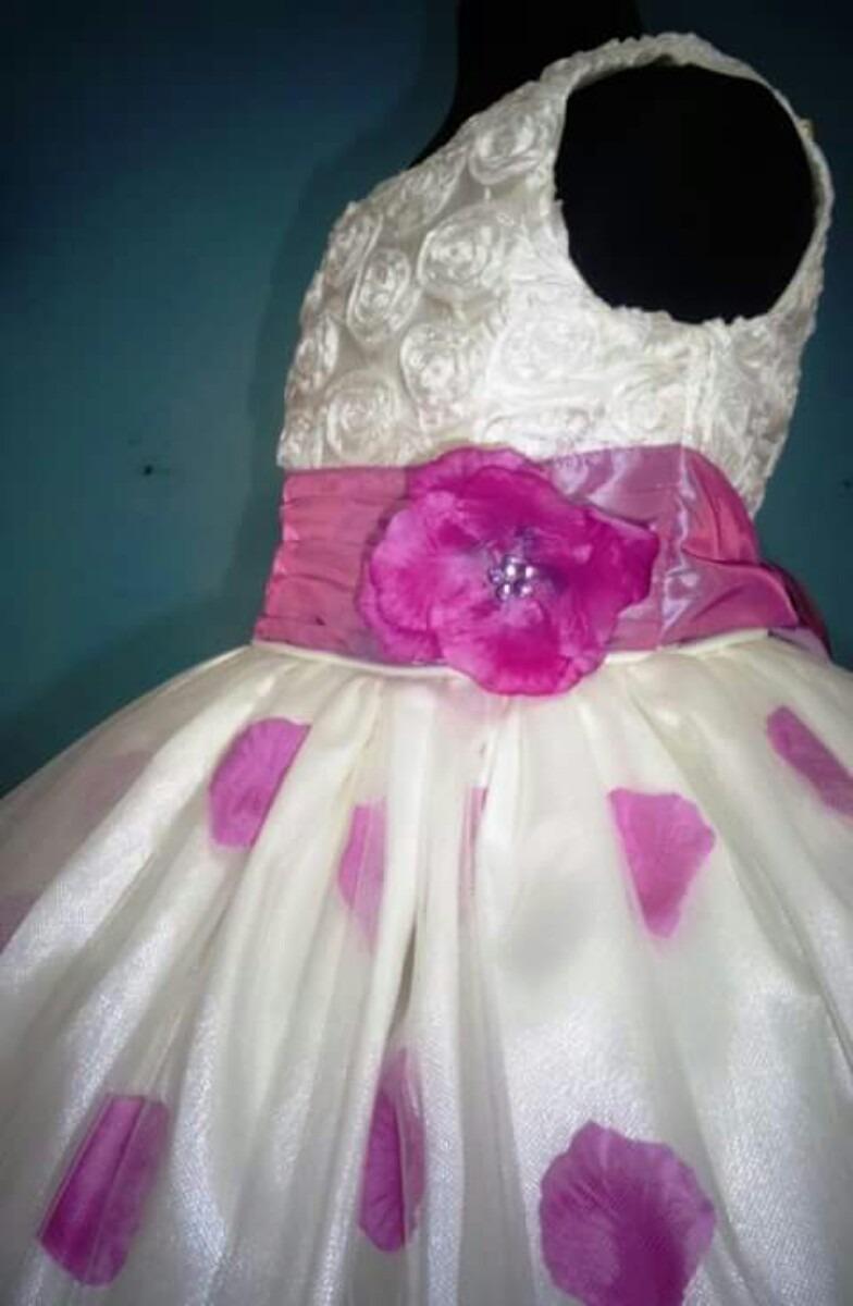Perfecto Rosa Rosa Pétalo Vestidos De Dama De Honor Ornamento ...