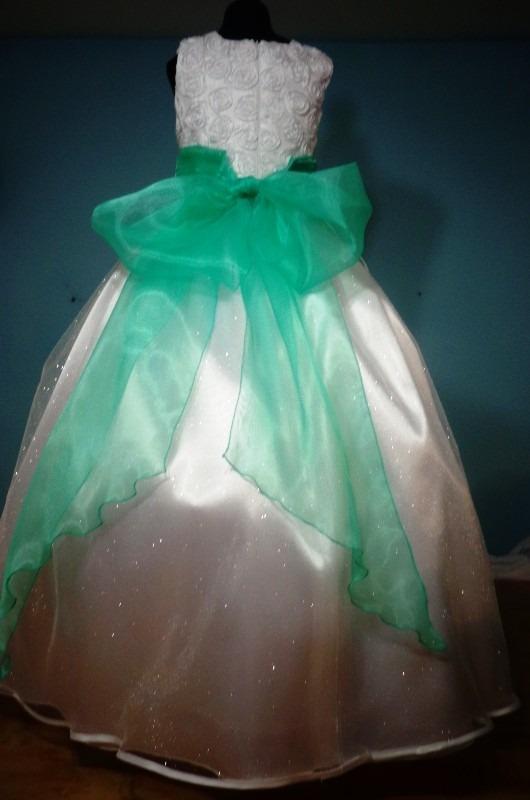 Vestidos verde menta nina