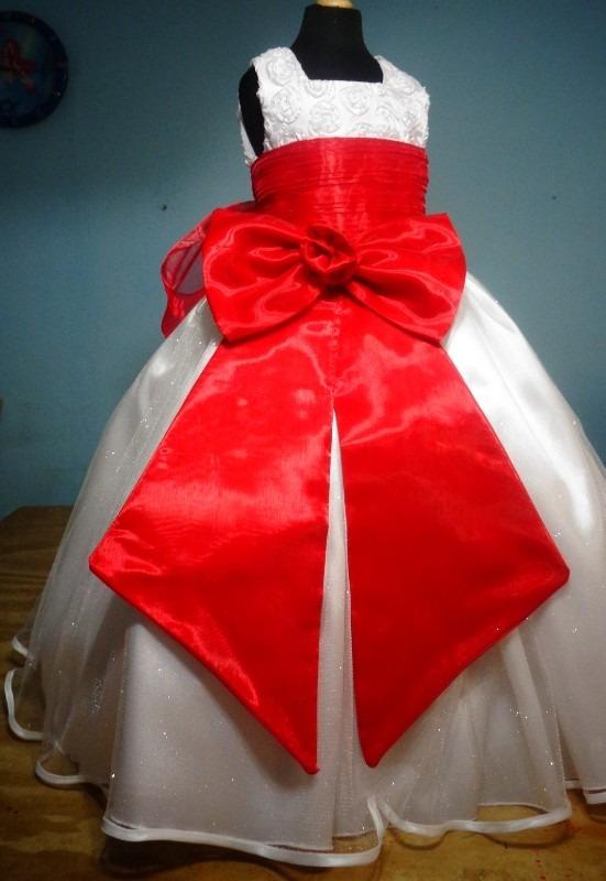 Vestidos rojo y blanco para ninas