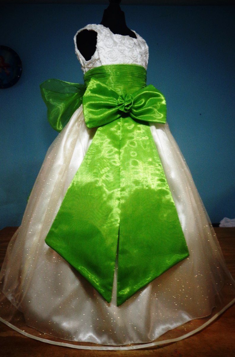 Vestidos de fiesta para nina en color verde