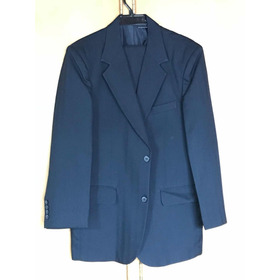 Vestido De Paño, Azul Oscuro Talla 40