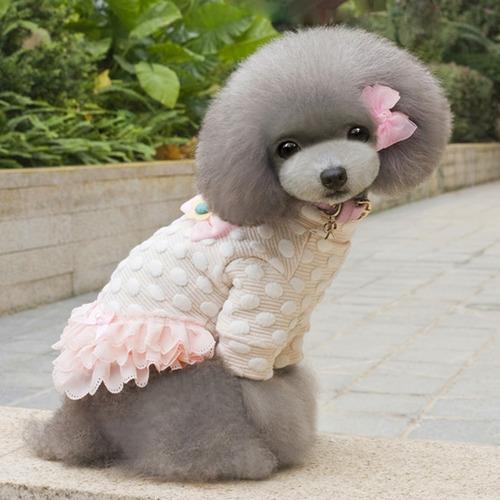 vestido de perros gatos falda gruesa de 100% algodón ropa