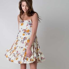 93a33b2f63d3 Vestidos Juveniles Floreados Largos - Vestidos de Mujer Amarillo en ...