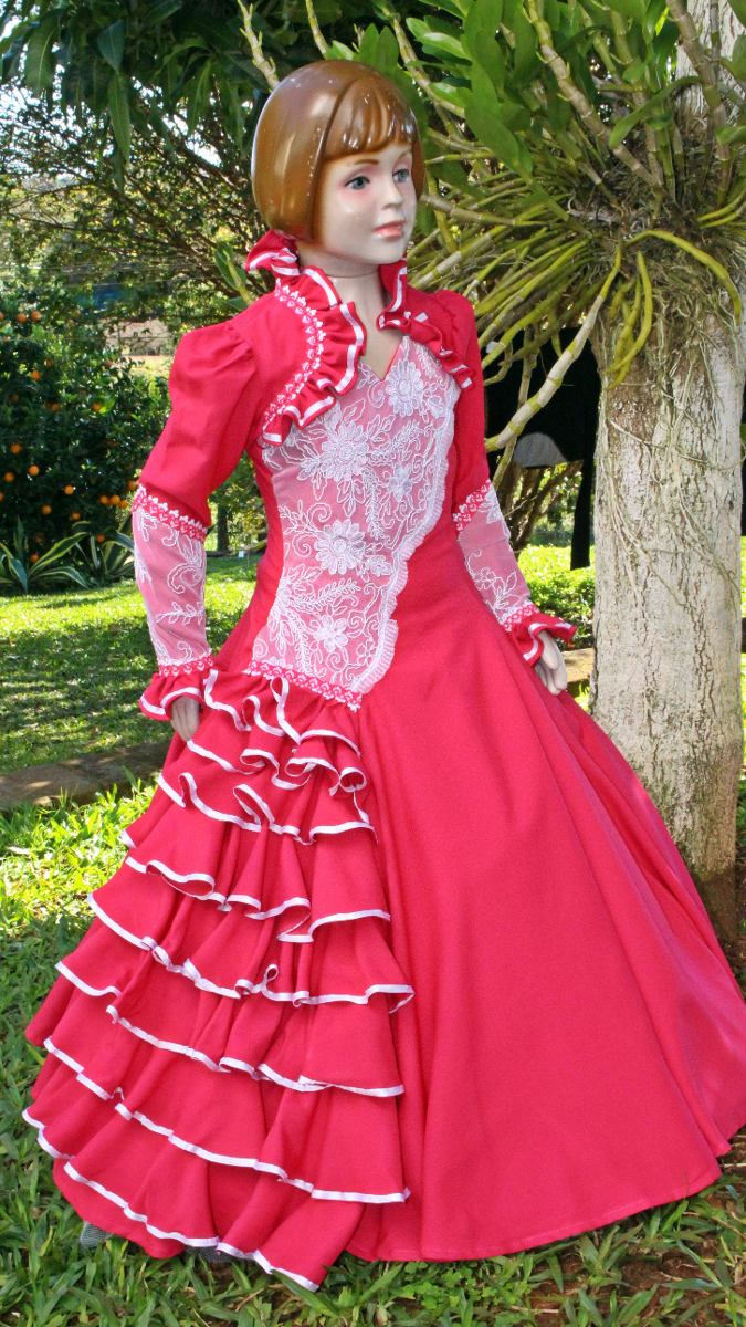 ec074cebfe vestido de prenda infantil 4-6-8 c  saia armação mod. laura. Carregando  zoom.