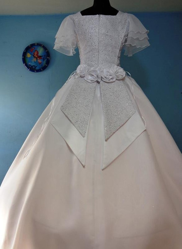 vestido de primera comunion con mangas