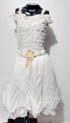 vestido de primera comunion nuevos color beige corto