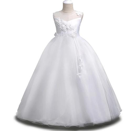 vestido de primera comunión vestido de bautizo blanco