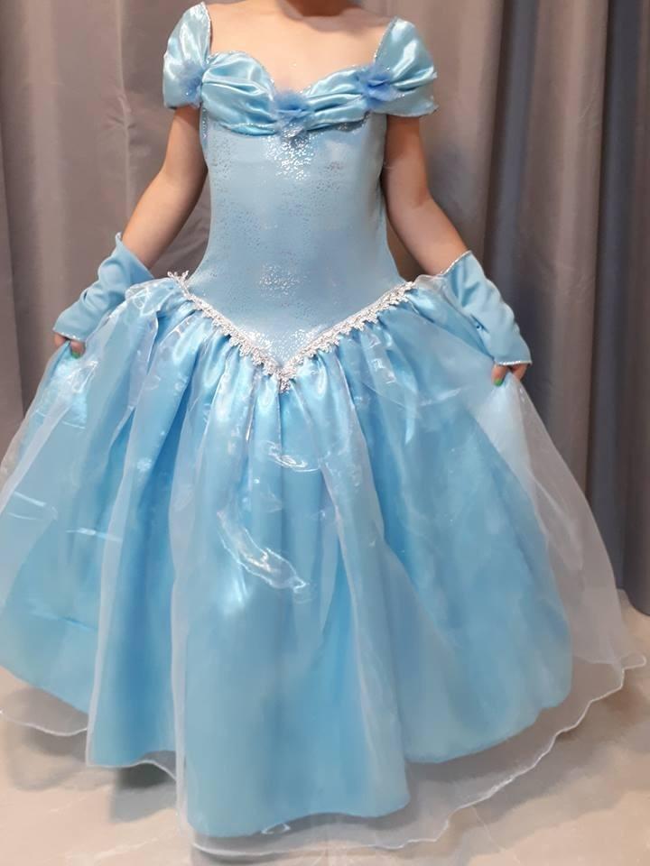Vestido De Princesa Infantil Envio Imediato