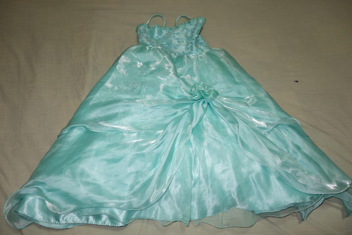 Vestidos de promocion verde agua marina