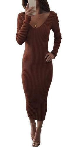 vestido de punto vintage de invierno de mujer vestido de