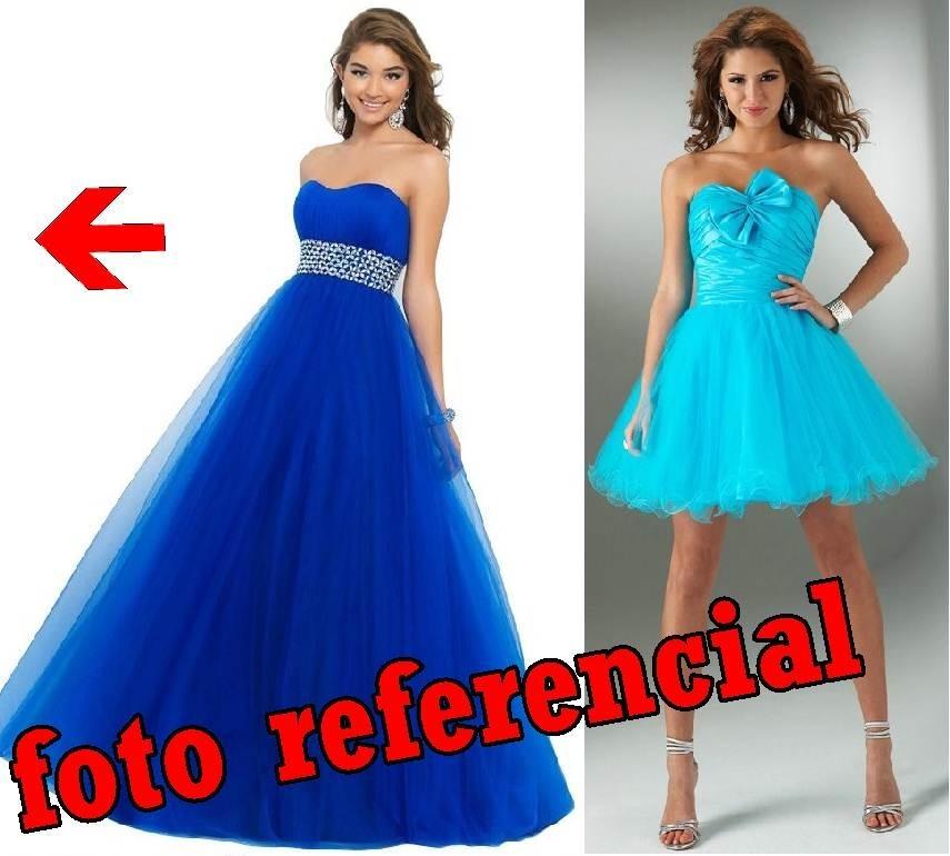 Vestido de quinceanera azul turquesa