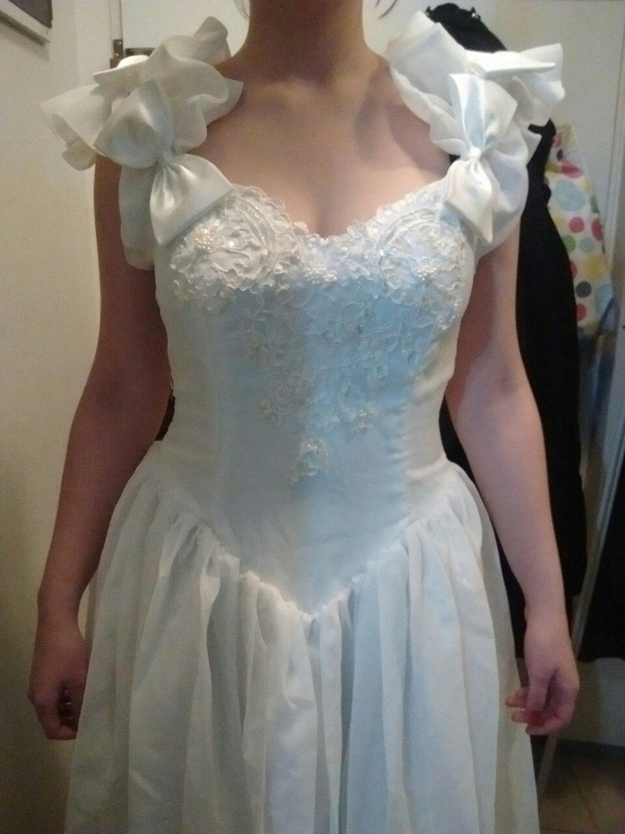 Vestido De Quince, Novia. Gasa Con Bordado - $ 1.800,00 en Mercado Libre