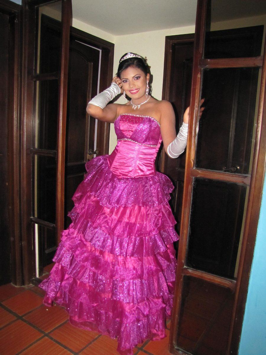 Vestido De Fiesta Color Magenta - Vestidos de Mujer Largos en ...