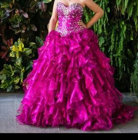 Vestido Color Melon Largo Vestidos De Mujer De 15 Usado En