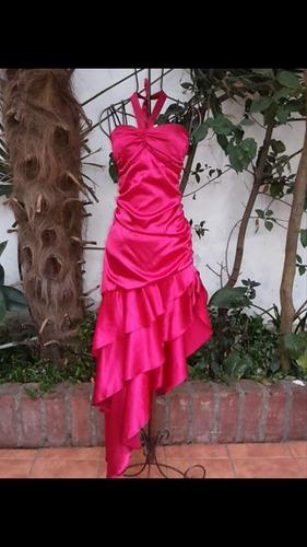 vestido de raso rojo talla 36 para una niña o mujer delgada