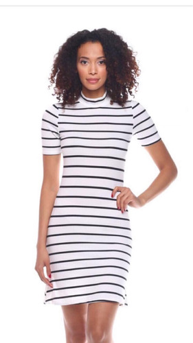 vestido de rayas importados manga corta