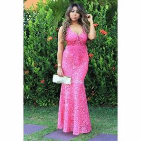 7da5a1ef3 Vestido Madrinha Pink Sereia - Vestidos Longos Femininas no Mercado ...