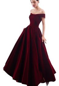 Vestido De Terciopleo Corte Princesa Para Damas De R11283
