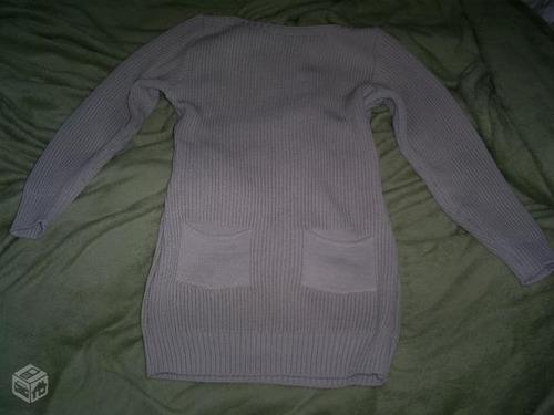 vestido de tricô