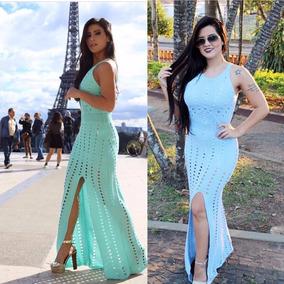 3ee292e07 Vestido Longo Bom Retiro De Noivas Longos - Vestidos Femininas Azul ...