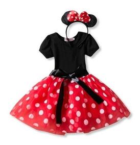 Vestido De Tul Para Niña De Minnie Mouse Envio Inmediato