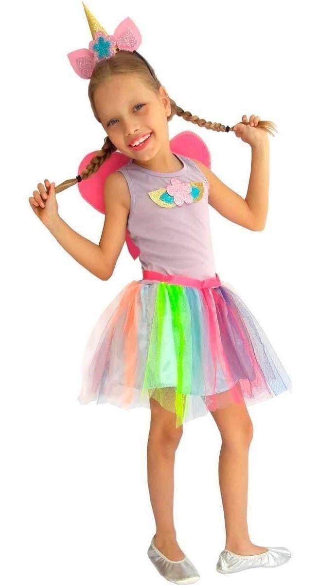 Vestido De Unicornio Infantil Luxo Tiara Com Chifre Brinde R 133 90 Em Mercado Livre