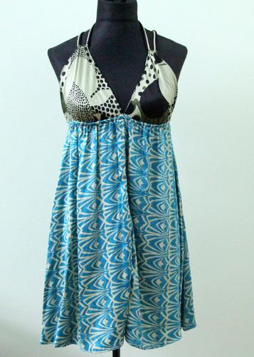 vestido de verano con espalda descubierta - envios