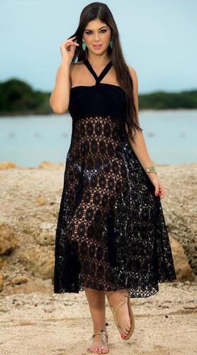 vestido de verano salida de playa pareo falda