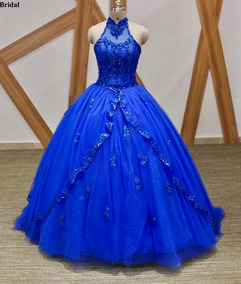 Vestido Xv Anos Azul Petroleo Vestidos De 15 Largo Azul En