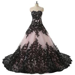 Vestido Quince Años Negro Hermoso Vestidos Vestidos De