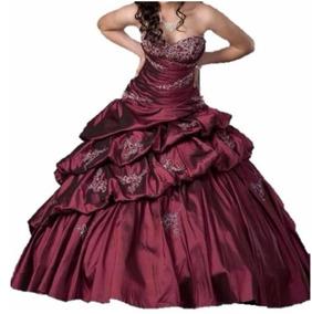 Vestidos Xv Tinto De Vestidos De 15 Bordó En Mercado Libre