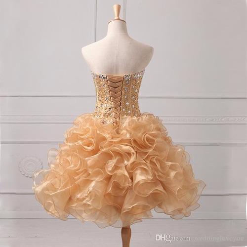vestido de xv años 15 años quince años falda corta y larga