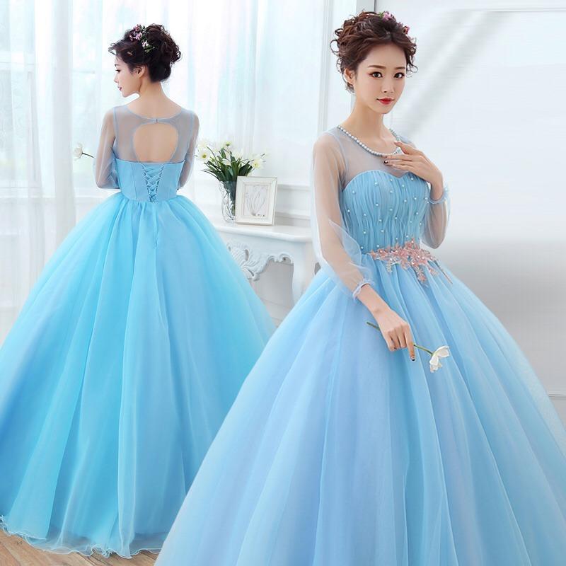 Imagenes de vestidos color azul cielo