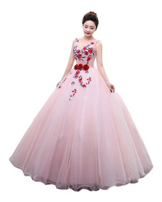 Vestido De Xv Años 15 Flores 3d