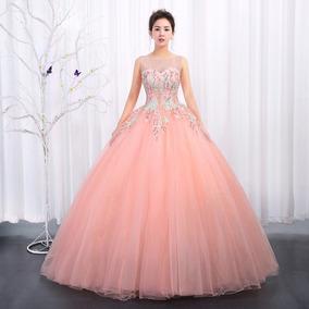 475ccc6ae Vestido Xv Años Rosa Coral - Vestidos 18 en Mercado Libre México