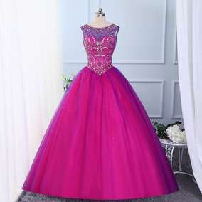 Vestidos De Xv Guindas Vestidos De Mujer De 15 Largo