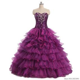 ba1bcec828 Vestidos Playeros Largos - Vestidos de XV Largos de Mujer Violeta en ...