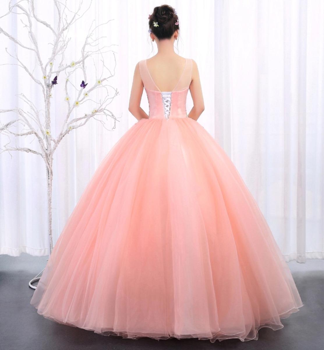 Vestido De Xv Años 15 Quinceañera Azul Rosa - $ 4,500.00 en Mercado ...