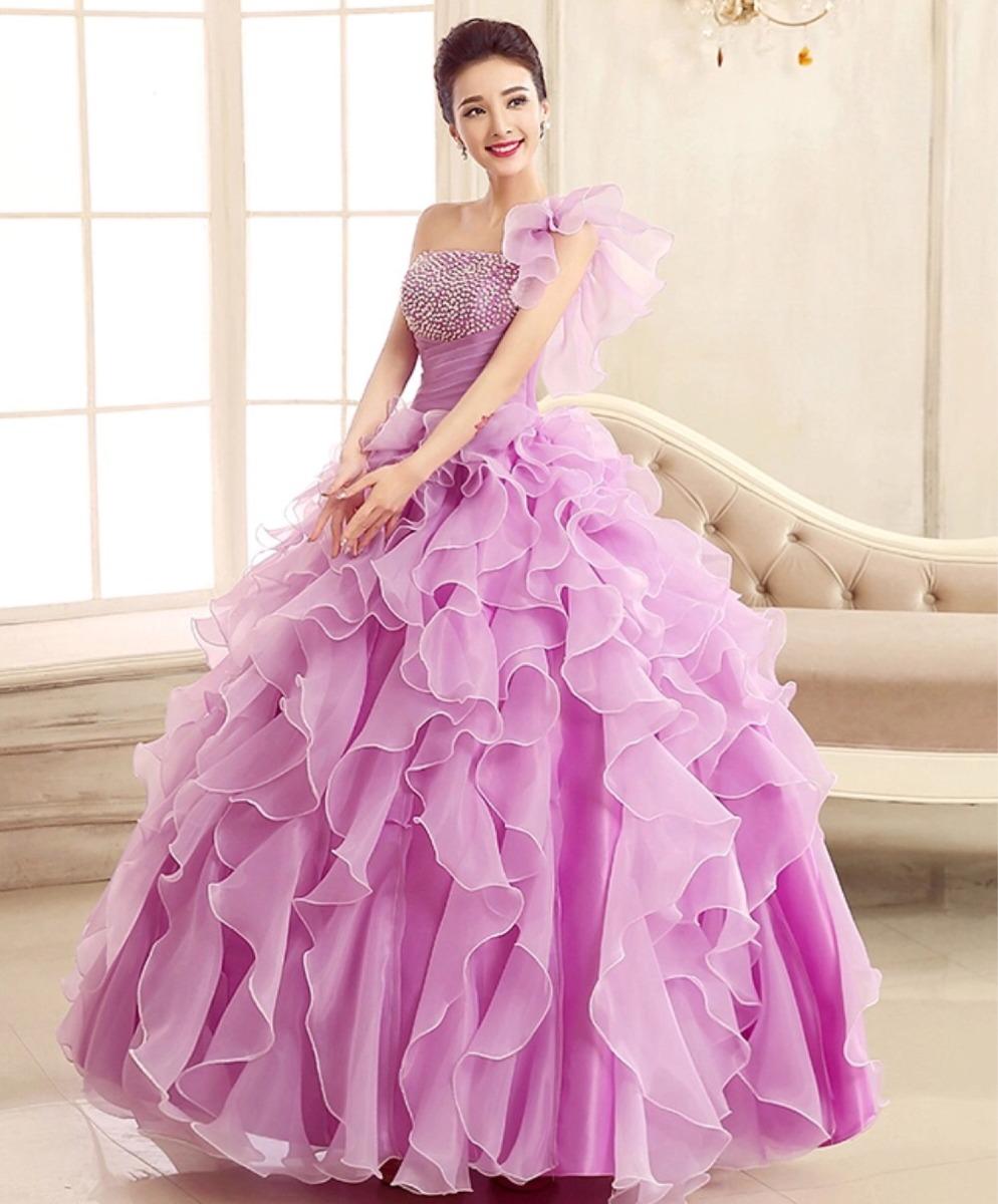 Magnífico Vestidos De Novia Violeta Festooning - Colección de ...