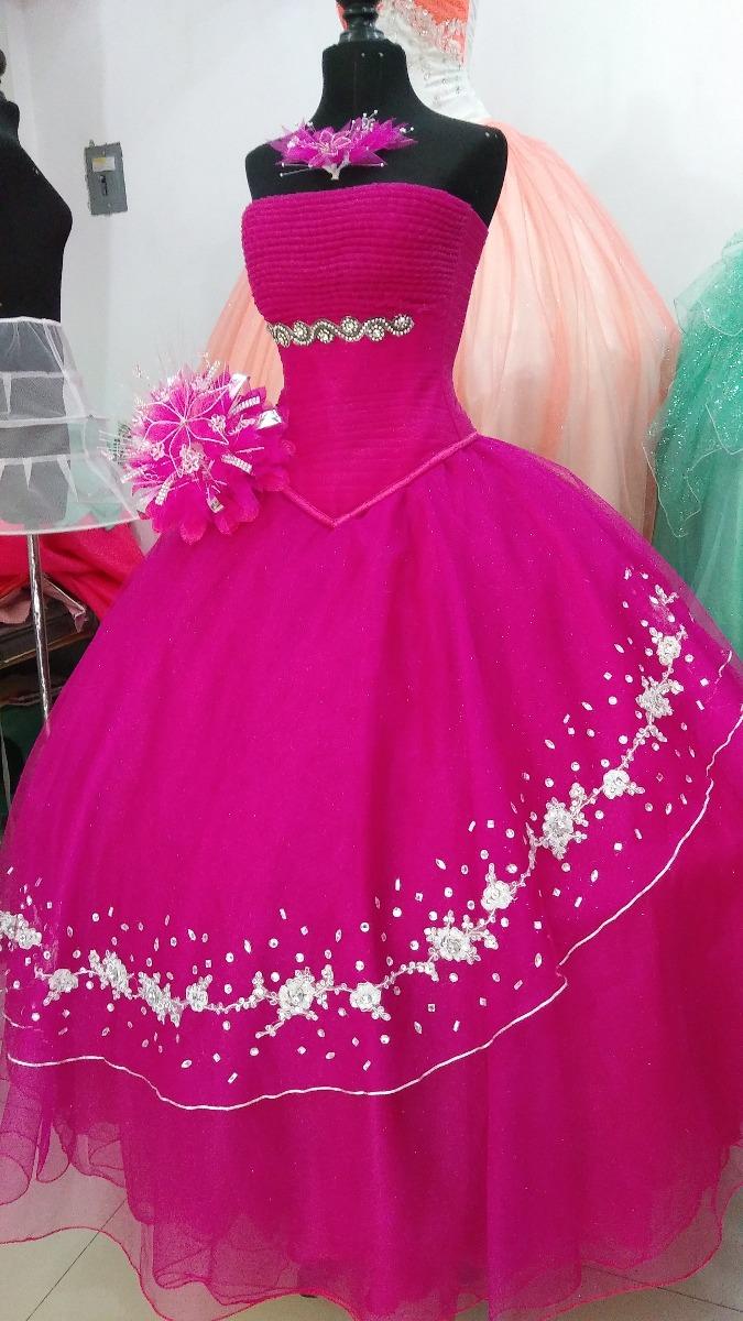Vestidos de XV Largos de Mujer Color Primario Fucsia en Mercado ...