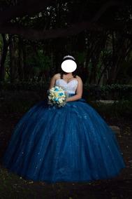 Vestido Xv Azul Turquesa Vestidos De 15 Largo En Puebla En