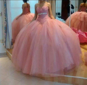 Vestido Xv Color Rosa Palo Vestidos Largos Mujer Puebla