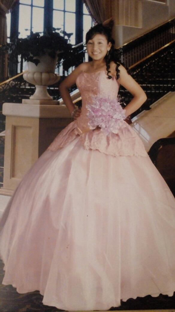 62ebaa945b vestido de xv años color palo de rosa usado. Cargando zoom.