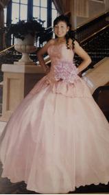 Vestido De Xv Años Color Palo De Rosa Usado