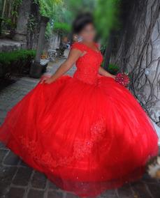 3927eb922 Vestido De Xv Años Color Rojo Vestido Completo