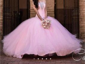 Hermoso Vestido De Xv Años Color Rosa Coral Talla 9 O M